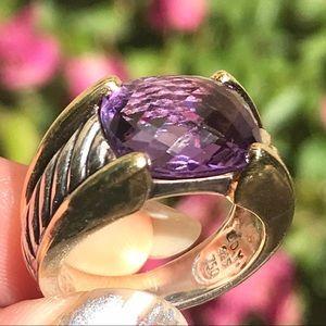 David Yurman Jewelry - David Yurman Amethyst Statement Ring w/ 18K Gold